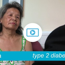 Image for Evina - type 2 diabetes, reduces her carbs